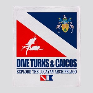 Dive Turks and Caicos Throw Blanket